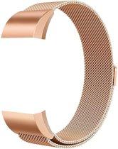 FitBit Charge 2 Milanees Bandje - Rosé Goud - RVS Milanees Watchband voor Activity Tracker - fitbit charge 2 bandje - Wearablebandje - horloge bandje horloge armbandje / polsbandje - Met magneetsluiting - inclusief garantie!