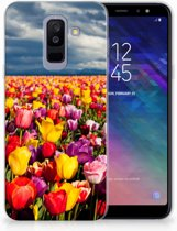 Samsung Galaxy A6 Plus (2018) TPU Siliconen Hoesje Tulpen