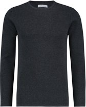 Purewhite Knitted Rib Rounded Crewneck Antra