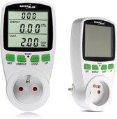 Energieverbruiksmeter Wattmeter Elektrische meter GreenBlue GB202  België stekker met aarding