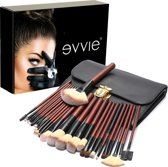 Evvie professionele 26-delige make-up kwasten set Deluxe - geschikt voor oogschaduw, lippenstift, concealer en foundation - in luxe etui en Giftbox