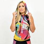 Trun - Dames hoodie voorzien van prachtig graffiti ontwerp van