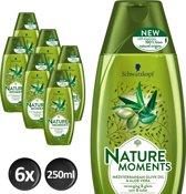 Schwarzkopf  Nature Moments Mediterranean Olive Oil&Aloe Vera Shampoo - 250 ml - 6 stuks