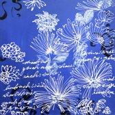 Schilderij witte bloem 80x80 Artello - Handgeschilderd - Woonkamer schilderij - Slaapkamer schilderij - Canvas - Modern