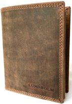Lundholm Leren portemonnee heren bruin Ruim, praktisch en hoge kwaliteit leer - cadeau voor man verjaardag
