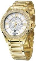 VENDOUX The Crystal Gold/White MD63000-02 - Horloge - Dames - Goudkleurig - Ø 42mm
