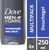 Dove Men+Care Hydration Balance - 6 x 250 ml - Douchegel - Voordeelverpakking