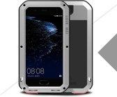 Metalen fullbody hoes voor Huawei P10 Plus, Love Mei, metalen extreme protection case, zwart-grijs