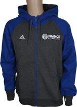 Adidas Hoody France Basketball Heren Grijs/blauw Maat M