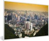 Foto in lijst - Het Chinese Guiyang bij zonsopkomst in Azië fotolijst wit 60x40 cm - Poster in lijst (Wanddecoratie woonkamer / slaapkamer)