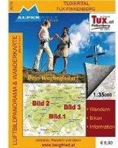 Zillertal Tux-Finkenberg 1 : 35 000 Luftbildpanorama und Wanderkarte