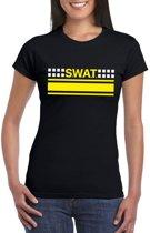 Politie SWAT team logo t-shirt zwart voor dames XS