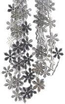 Kralenketting sneeuwvlok kunststof 270cm Zilver