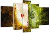 Glasschilderij Spel | Rood, Groen, Geel | 170x100cm 5Luik | Foto print op Glas |  F004583