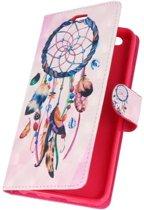 Huawei P10 3D Print Dromenvanger | bookstyle / book case/ wallet case Hoesje  | WN™