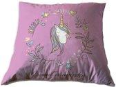 Unicorn - Sierkussen - 35 x 35 cm - Roze