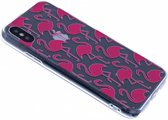 iPhone X / Xs 3D Flamingo Design Back Cover Hoesje