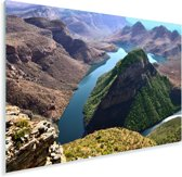 Luchtmening van de Afrikaanse Blyvieri-poort in Zuid-Afrika Plexiglas 120x80 cm - Foto print op Glas (Plexiglas wanddecoratie)