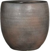 Mica Decorations - ingmar pot taupe relief - maat in cm: 27 x 27