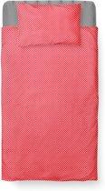 Dekbedovertrek Peuter - Katoen - 120 x 150 - Rood - Baby Dots Red incl. Kussensloop