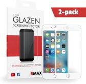 2-pack BMAX Apple iPhone 7 Full Cover Glazen Screenprotector (Wit)   Dekt het volledige scherm!   Beschermglas   Tempered Glass