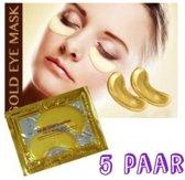 Anti rimpel-anti donkere kringen-anti wallen-oogpads-collageen-5 paar!