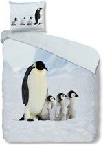 Good Morning 2051-P Pinguin - dekbedovertrek - eenpersoons - 140x200/220 cm  - 100% katoen - multi