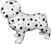 Engelse Buldog Big Max XL decoratief object | hond -wit met zwarte verfspatten | Pomme pidou