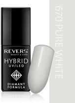 REVERS® Hybrid Nail Polish UV/LED 6ml. #670 Pure White