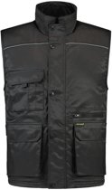 Tricorp Bodywarmer industrie - Workwear - 402001 - zwart - Maat 4XL