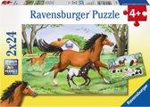 Ravensburger Wereld van de paarden Twee puzzels van 24 stukjes