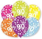 Amscan Ballonnen 90 Jaar 6 Stuks 28 Cm