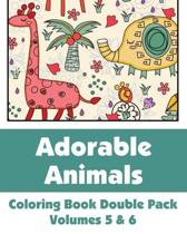 Adorable Animals Coloring Book Double Pack (Volumes 5 & 6)