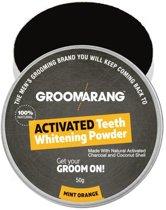 Groomarang Activated Charcoal 100% natuurlijke Tandenbleker plus gratis bamboe tandenborstel.
