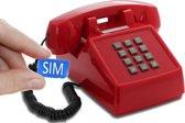 OPIS Push-Me-Fon Rood MOBILE retro telefoon SIM compatibel