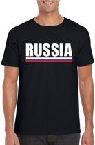 Zwart Rusland supporter t-shirt voor heren - Russische vlag shirts 2XL