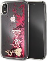 Guess Back Cover Glitter Roze - Guess Classic Collection - iPhone XR