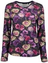 Blue Seven dames shirt LM blauw/bloem - maat 40