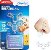 SleepRight Nasal Breathe Aid - Neusspreider - 3 stuks - Antisnurkmiddel - Helpt tegen snurken - Vrij ademen voor een goede en gezonde nachtrust.