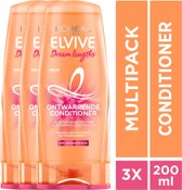 L'Oréal Paris Elvive Dream Lengths Conditioner - 3 x 200ml - Voordeelverpakking