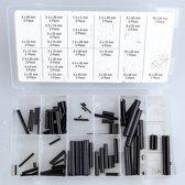 Paspennen / Spanstiften / Passtiften / Adapterkokers (90 Delig)