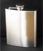 Heupflesje met schroefdop 200ml - Zilver