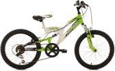 Ks Cycling Mountainbike 20'' kinderfiets Zodiac van KS Cycling, wit-groen, FH 31 cm - 31 cm