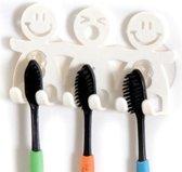 Tandenborstel – Tandenborstelhouder – Tandenpoetsen – Badkamer – Hangen – Wastafel – Planchet – Bewaren – Houder – Hygiënisch – Kunststof – Wit – EPIN 3D