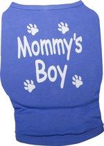 Nobby t-shirt Mommy's Boy met opdruk blauw 30 cm