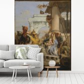 Fotobehang vinyl - The Adoration of the Magi - Schilderij van Giovanni Battista Tiepolo breedte 200 cm x hoogte 250 cm - Foto print op behang (in 7 formaten beschikbaar)