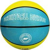 Basketbal Print, Azuurblauw/Lichtgroen/Wit, 7