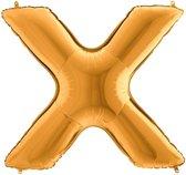Folieballon letter X goud (100cm)