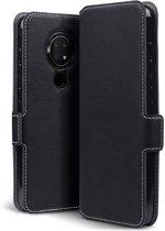 Nokia 6.2 Bookcase hoesje - CaseBoutique - Effen Zwart - Kunstleer