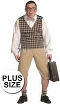 Grote maten nerd kostuum heren 58 (3xl)